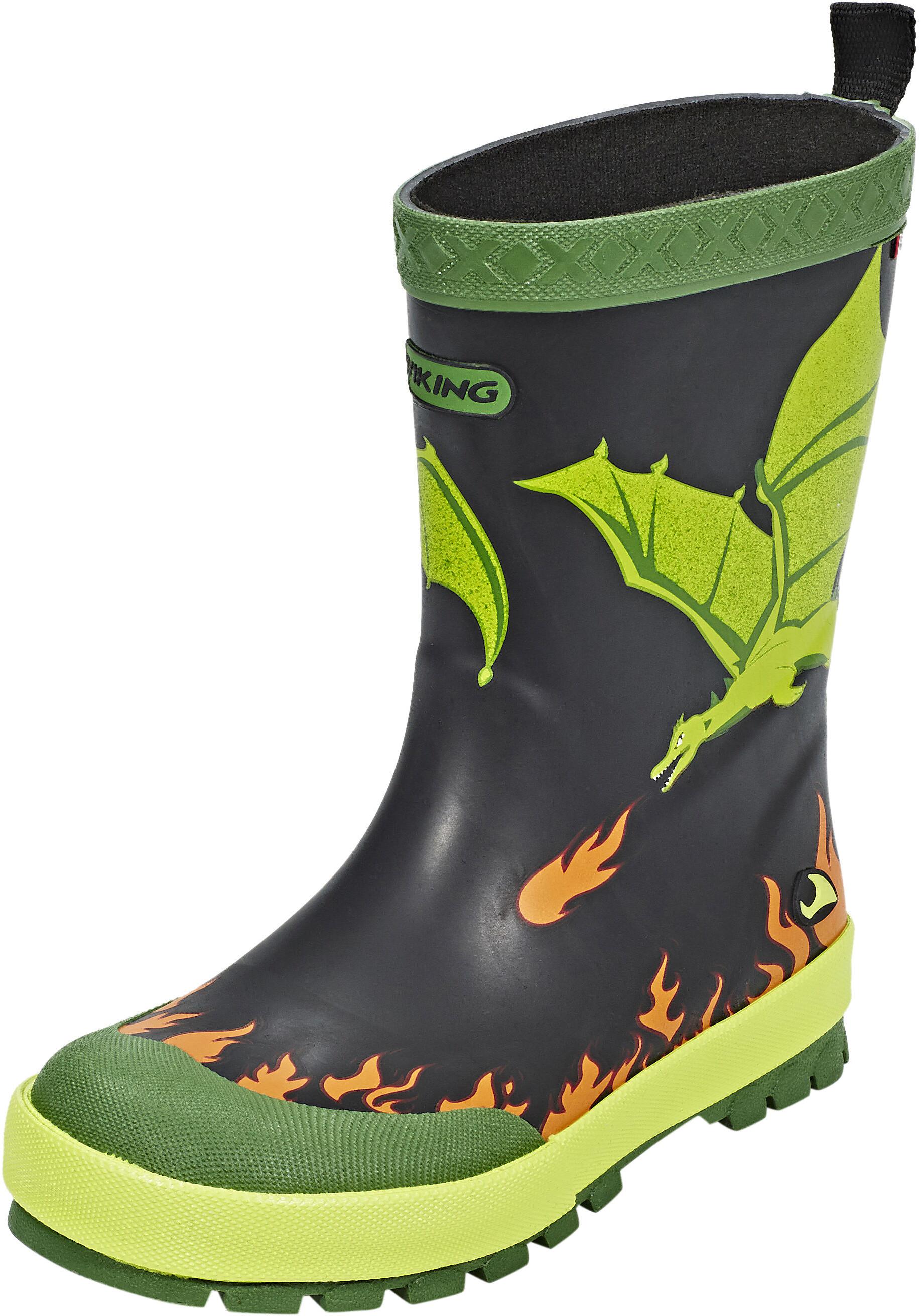 351dd2259700 Viking Footwear Drage Gummistøvler Børn grøn sort